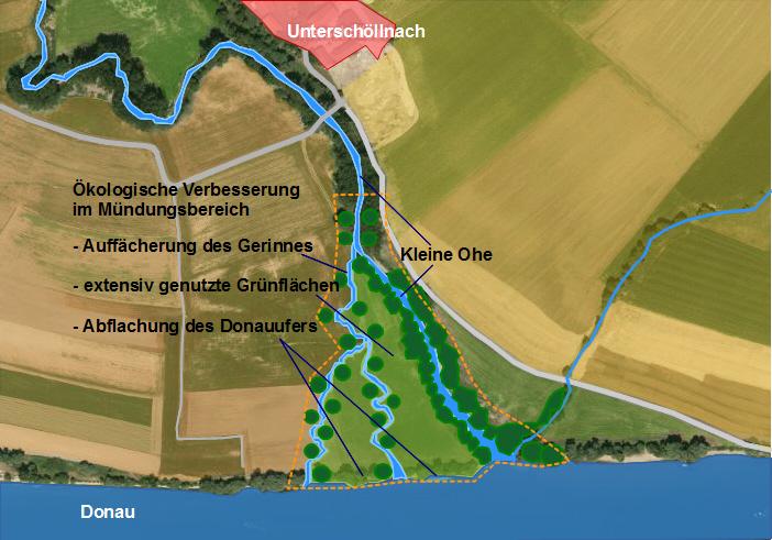 Entwurf zu Renaturierung an der Donau b. Pleinting