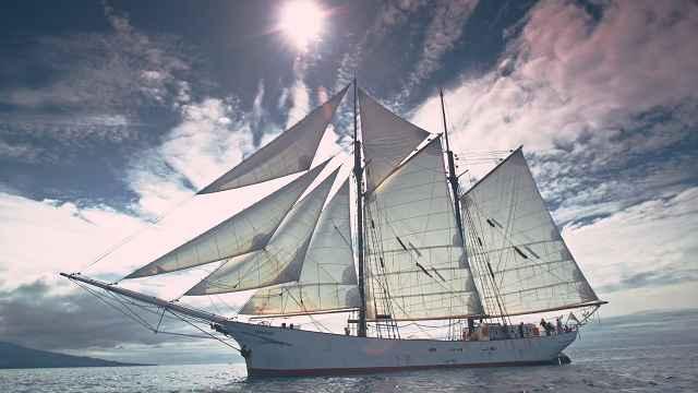 Timbercoast - Warentransport per Wind mit  dem Segelschiff AVONTUUR